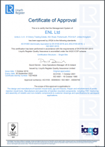 Quality AS9100 Certificate