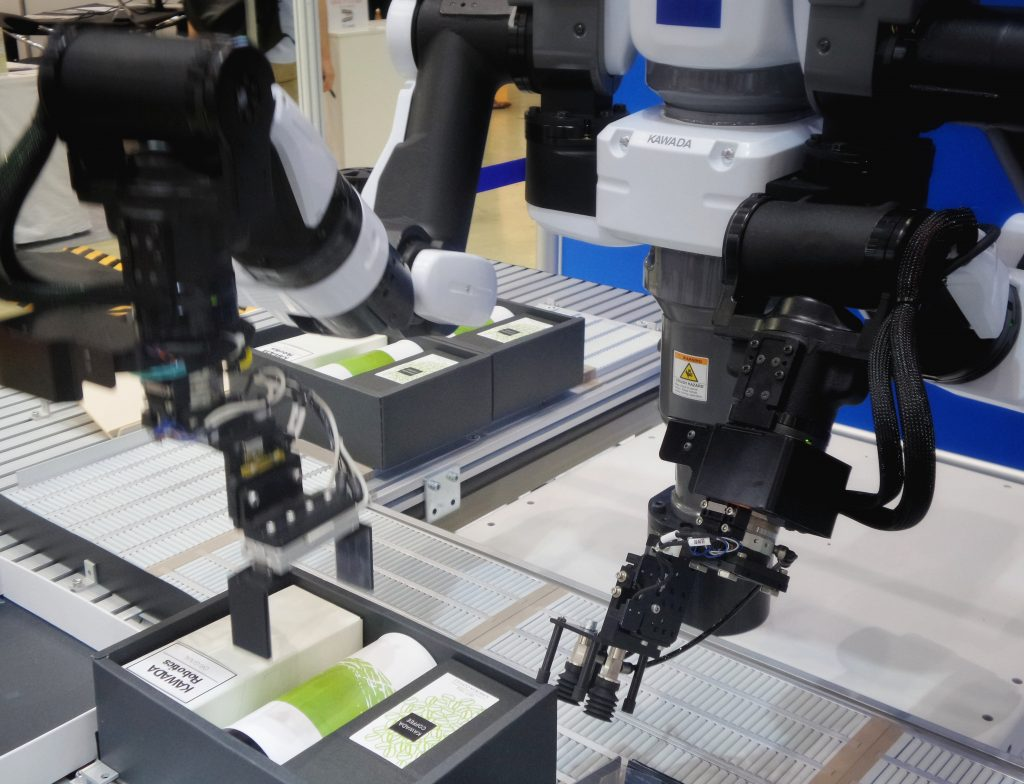 Robots for automating a production line