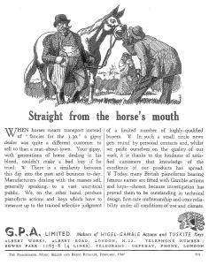 Horse advert